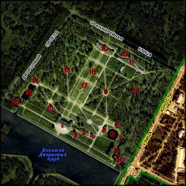Парк кусково описание и схемы 668