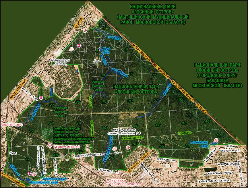 лосиный парк 1 схема