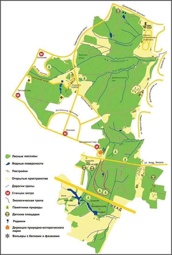 Схемы и планы парка на